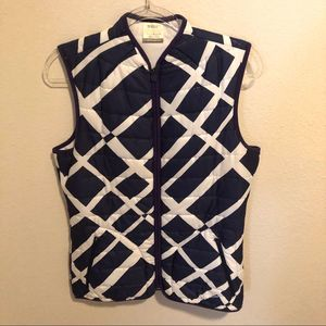 Nike Golf Quilted Vest Navy White Medium EUC